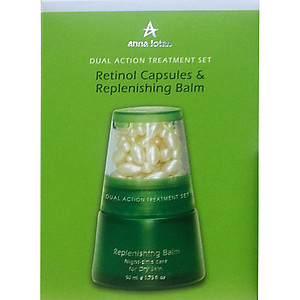 Anna Lotan Greens Dual Action Treatment Set Retinol Capsules&Replenishing Balm 50ml 42 caps