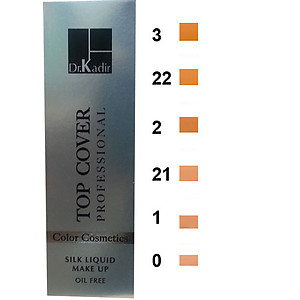 Dr. Kadir Top Cover ? Silk Liquid Make Up 6 shades 0, 1, 2, 3, 21, 22