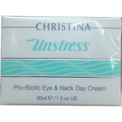 Christina UNSTRESS - Pro-Biotic Eye and Neck Day Cream spf12 30ml
