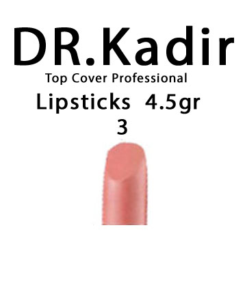 Dr. Kadir Top Cover Professional Lipsticks color3  4.5gr