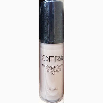 Ofra makeup absolute cover silk peptide foundation no.1 1.2Oz 36ml