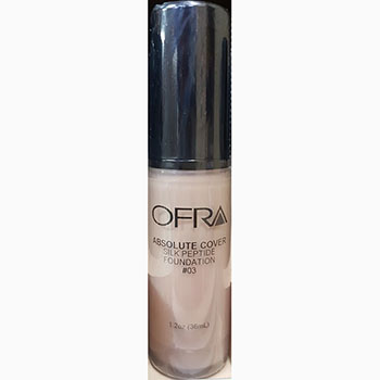 Ofra makeup absolute cover silk peptide foundation no.3 1.2Oz 36ml