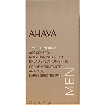 Ahava Time To energizer Age Control Moisturizer Cream broad Spectrum SPF 15 Man