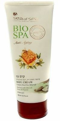 Sea Of Spa Bio Spa Body Cream contains Dead Sea Minerals Enriched with Olive Oil, Honey & Propolis 180 ml