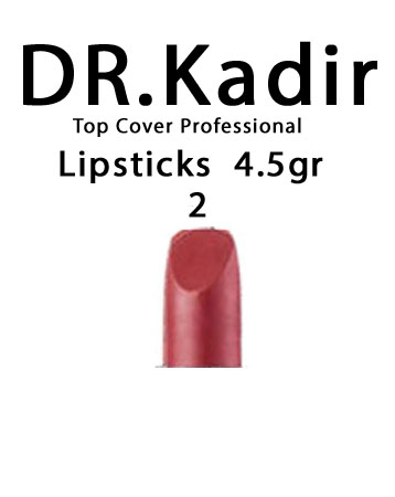 Dr. Kadir Top Cover Professional Lipsticks color2 4.5gr